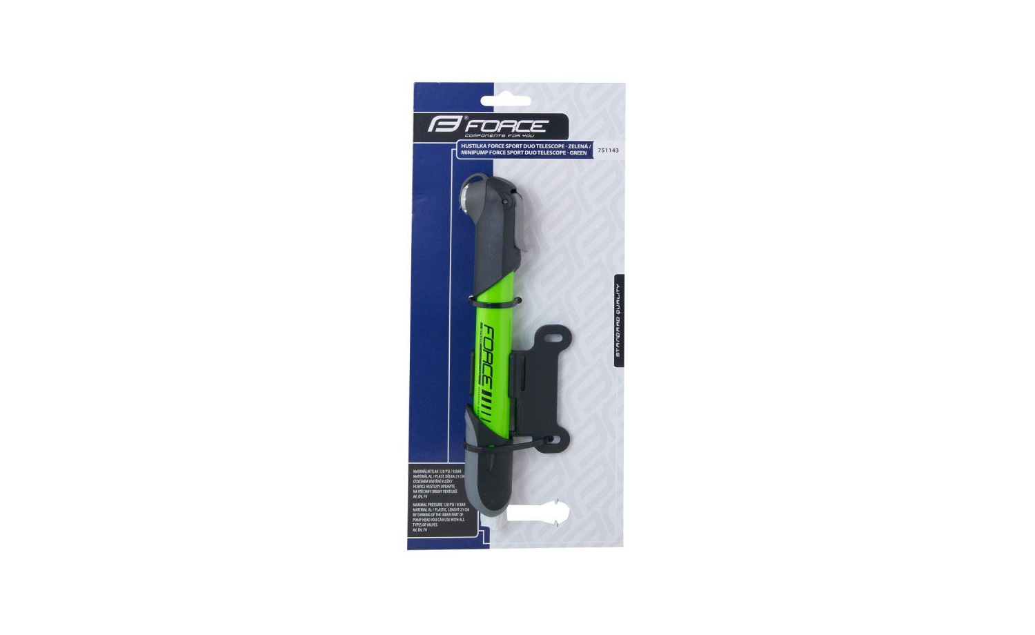 Pumpe FORCE SPORT DUO TELESCOPE