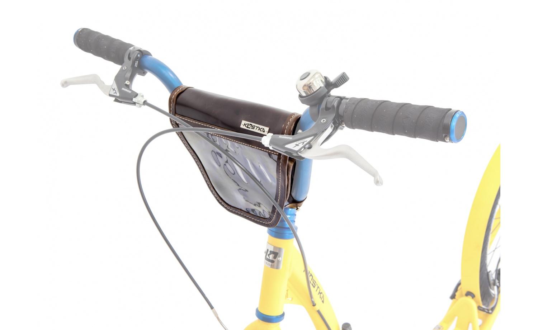 Tragetäschche KOSTKA mit Klappe für BMX Lenker (Leder)
