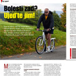 Kostka koloběžka - napsali o nás, časopis run the world magazine